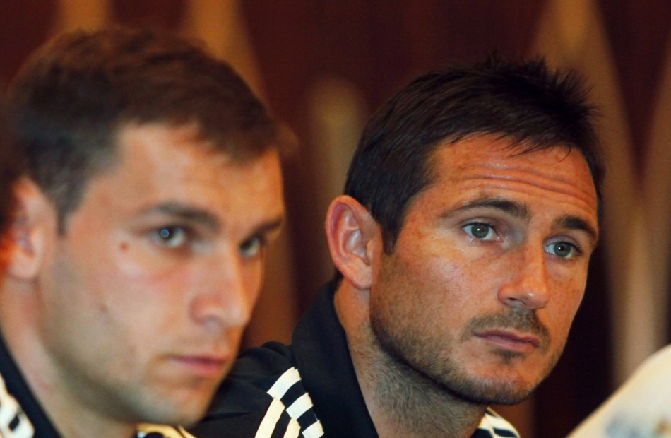 Branislav Ivanovic and Frank Lampard