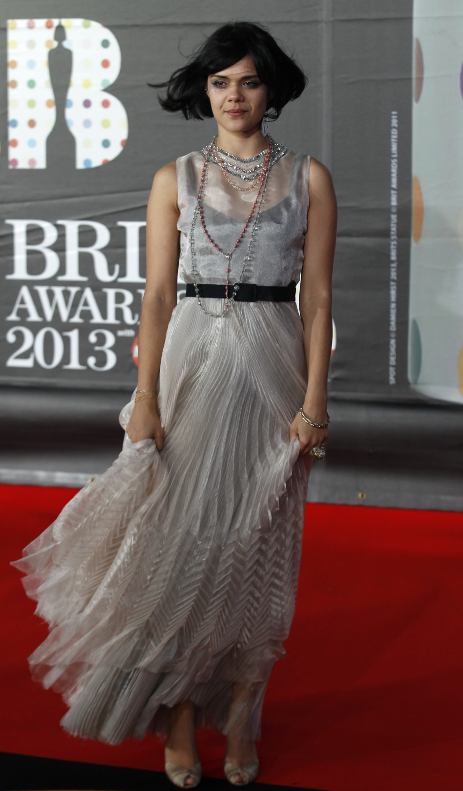 Bat For Lashes arrives for the BRIT Awards, celebrating British pop music, at the O2 Arena in London February 20, 2013.