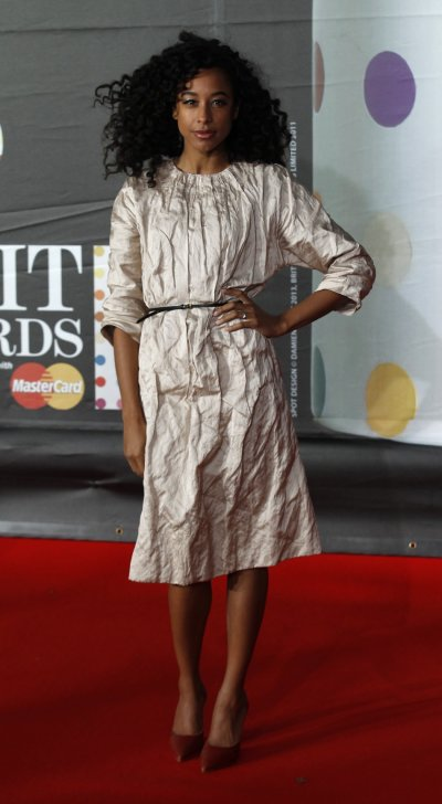 Corinne Bailey Rae arrives for the BRIT Awards, celebrating British pop music, at the O2 Arena in London February 20, 2013.