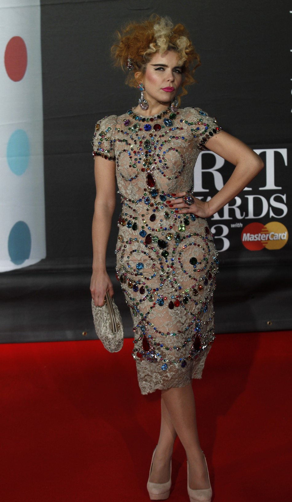 Singer Paloma Faith arrives for the BRIT Awards, celebrating British pop music, at the O2 Arena in London February 20, 2013.