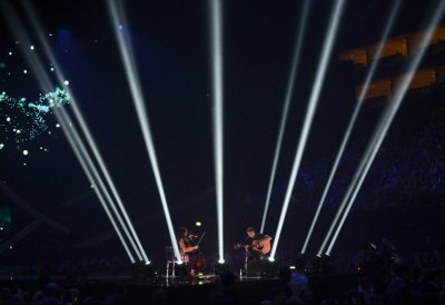 Singer Ben Howard R performs during the BRIT Awards, celebrating British pop music, at the O2 Arena in London February 20, 2013.