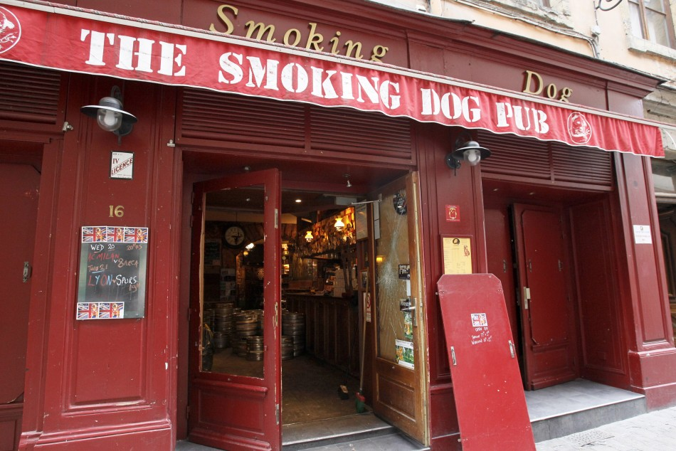 Smoking Dog after raid