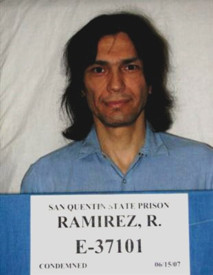 Richard Ramirez (Source - San Quentin State Prison, California Department of Corrections and Rehabilitation)