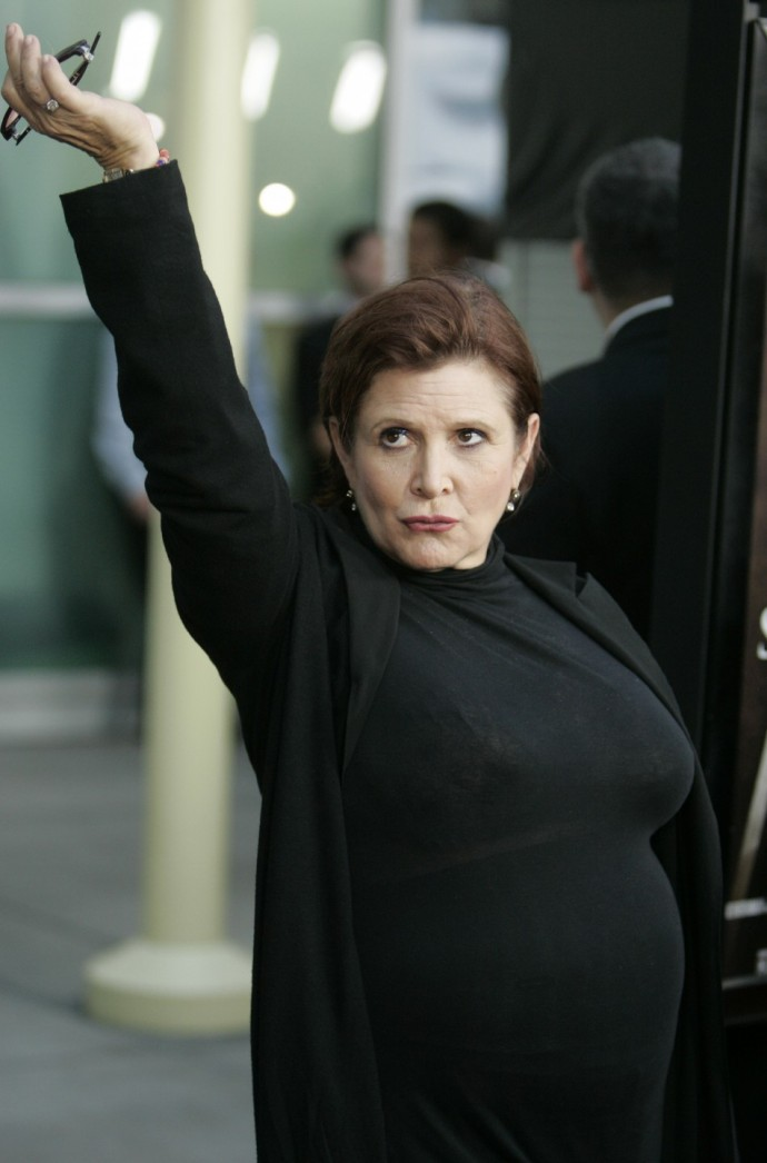 Actress Carrie Fisher arrives for the premiere of her new film