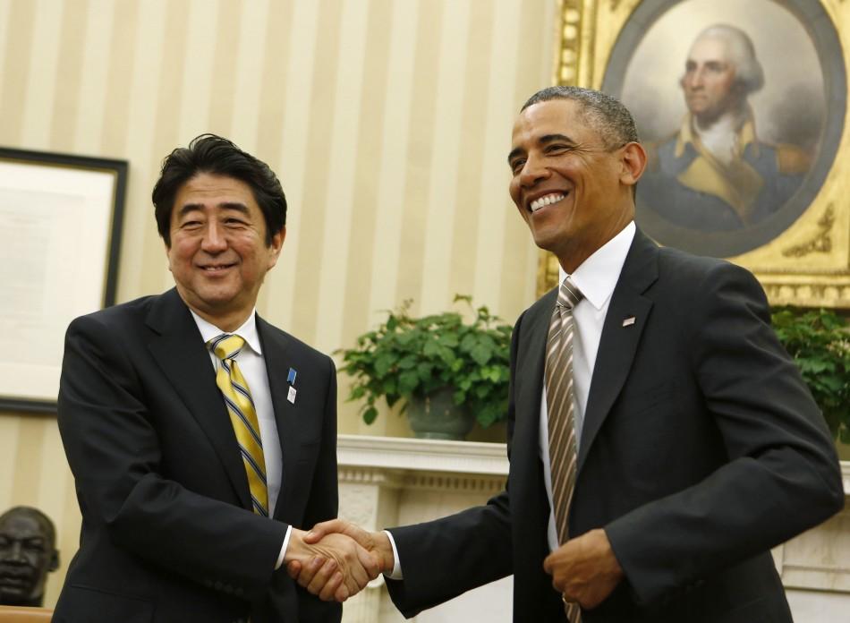Obama and Abe