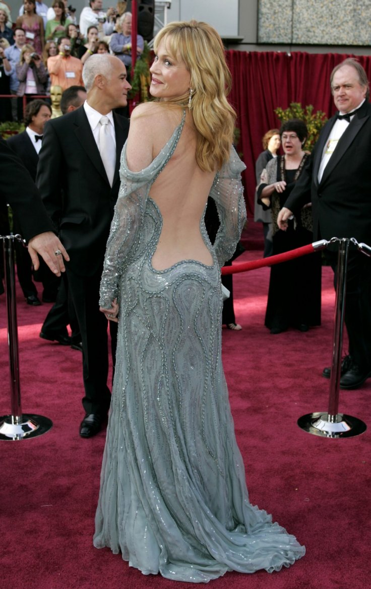 U.S. actress Melanie Griffith arrives at the 77th annual Academy Awards in Hollywood, February 27, 2005. REUTERS/Mike Blake MMR