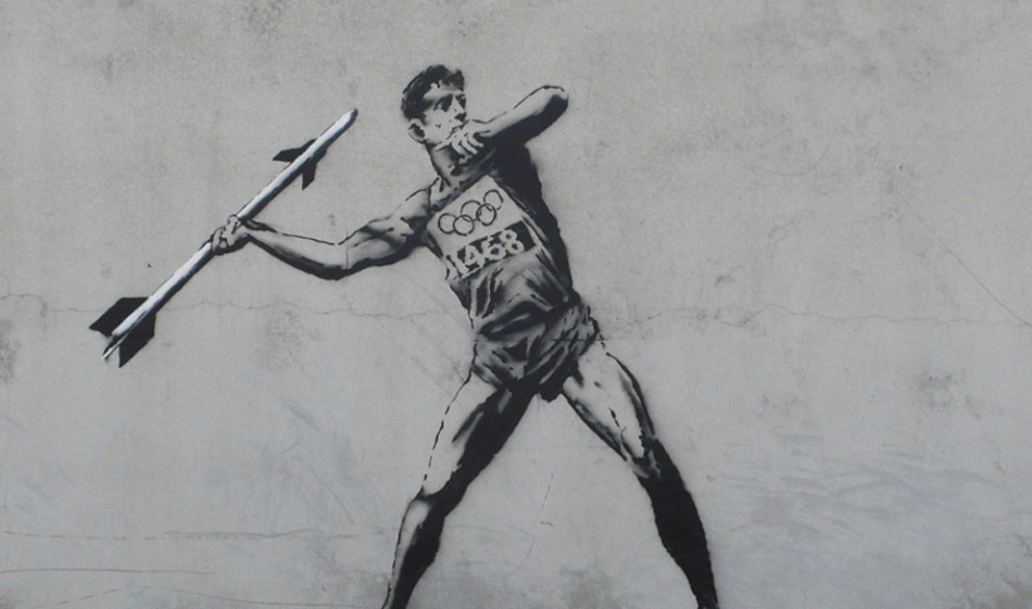 Banksy, the pseudonymous British street artist whose graffiti is famous for dealing with a wide array of social and political themes, released a new series of wall art in honour of the 2012 Summer Olympic Games in London