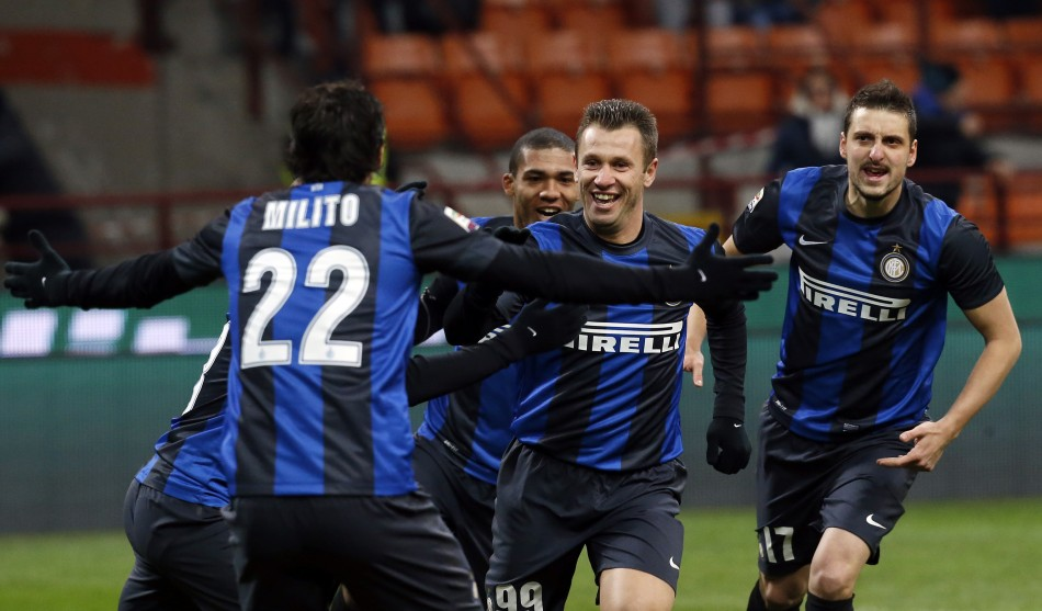 Fromer AC Milan star Antonio Cassano will lead Inter Milan's attack