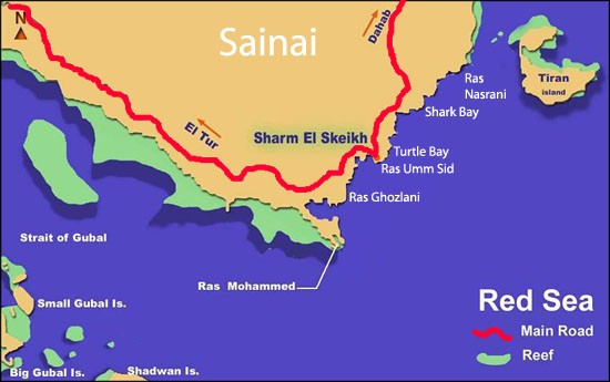 The Sinai Peninsula in Egypt, the area of Sharm el-Sheikh has some of the globe's best scuba diving places. (www.fantasticegypt.com)