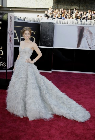 Amy Adams, best supporting actress nominee for her role in The Master, arrives at the 85th Academy Awards in Hollywood, California February 24, 2013.