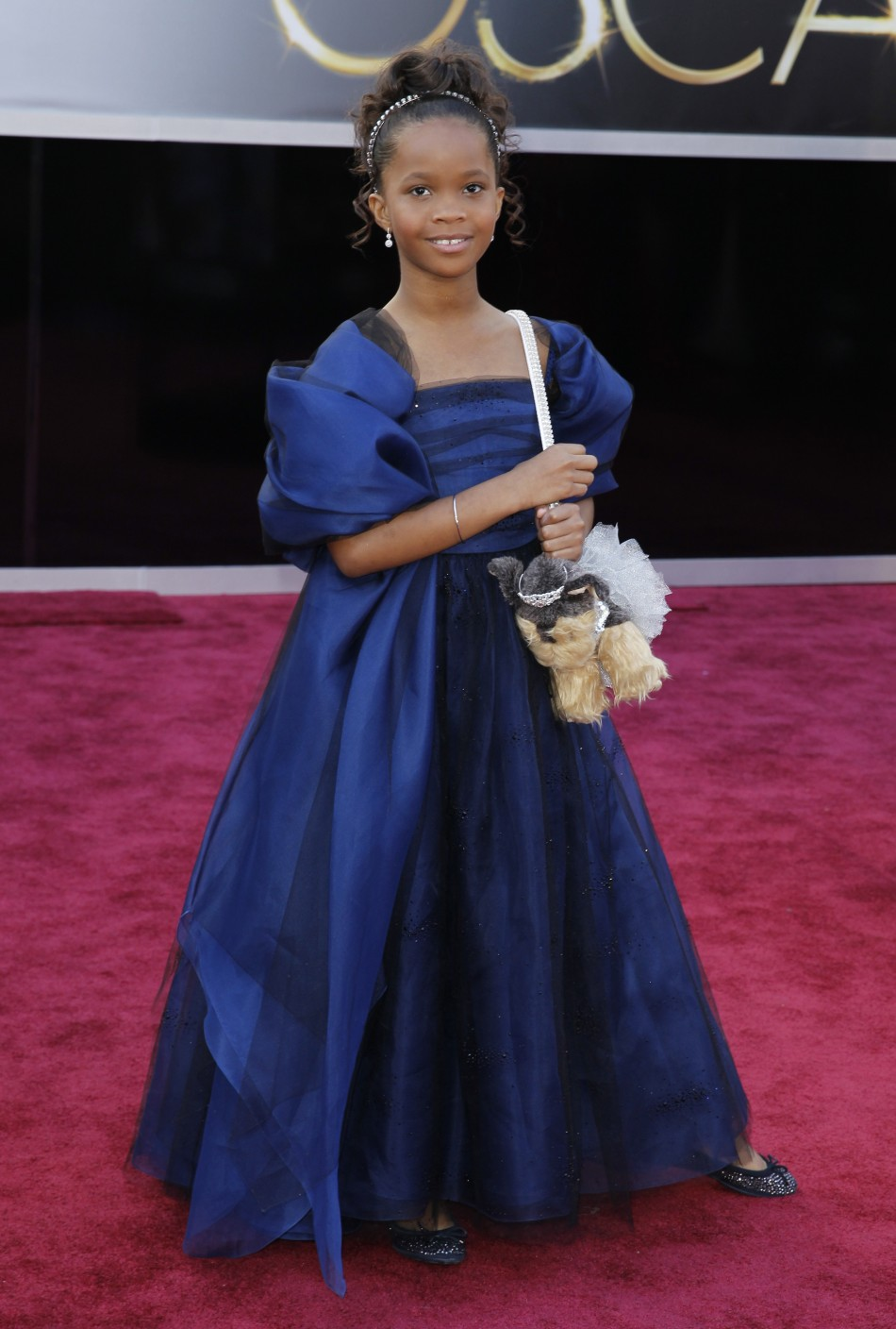Quenzhane Wallis, best actress nominee for her role in Beasts of the Southern Wild, arrives at the 85th Academy Awards in Hollywood, California, February 24, 2013.