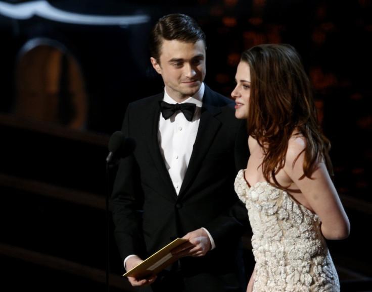 Daniel Radcliffe (L) and Kristen Stewart