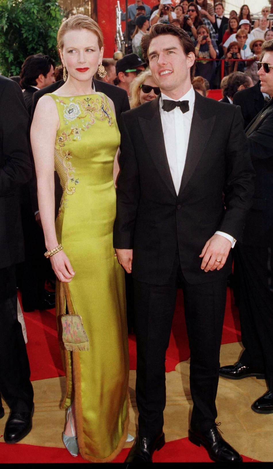 Academy Award nominee for Best Actor Tom Cruise arrives with his wife, actress Nicole Kidman, at the 69th annual Academy Awards March 24. Cruise was nominated for his role in Jerry Maguire. Kidman is wearing a Christian Dior dress.