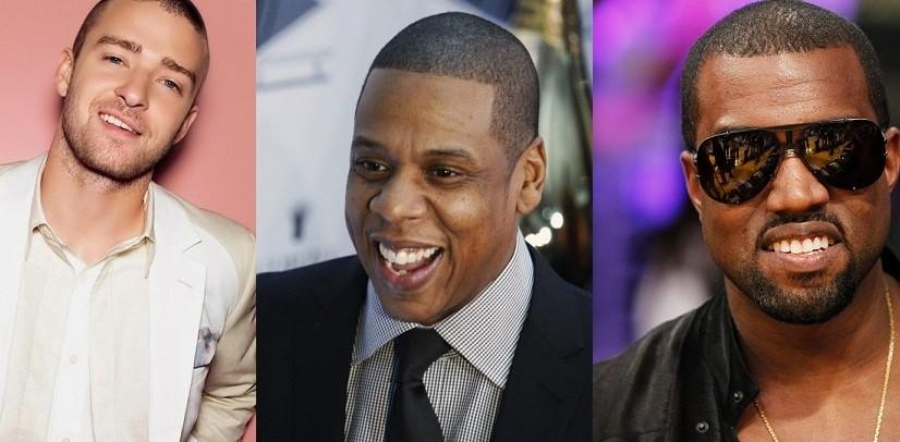 Justin Timberlake, Jay-Z and Kanye West