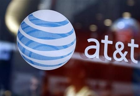 AT&T logo in a New York store.