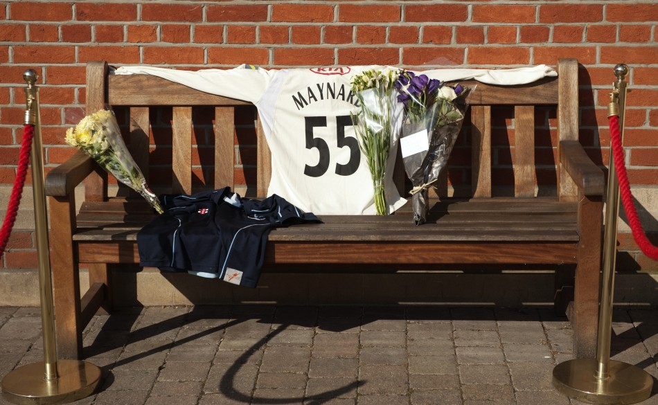 Tributes to Maynard at The Oval, home of Surrey CCC