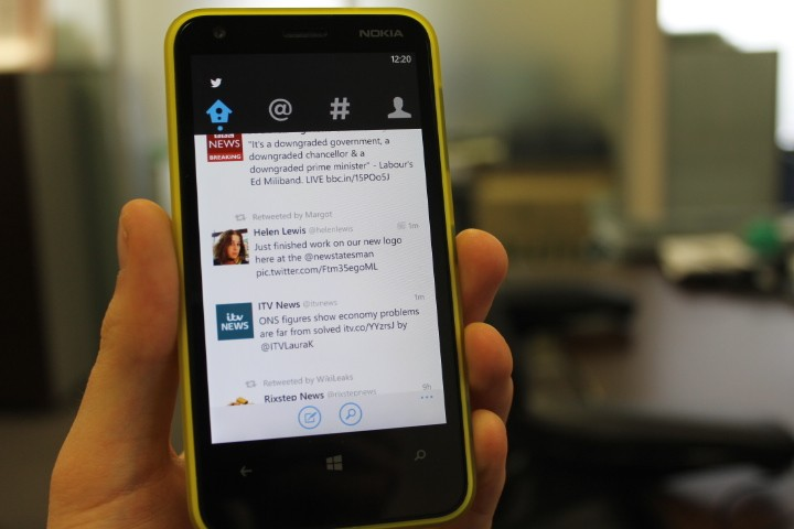 Twitter 2.0 for Windows Phone 8