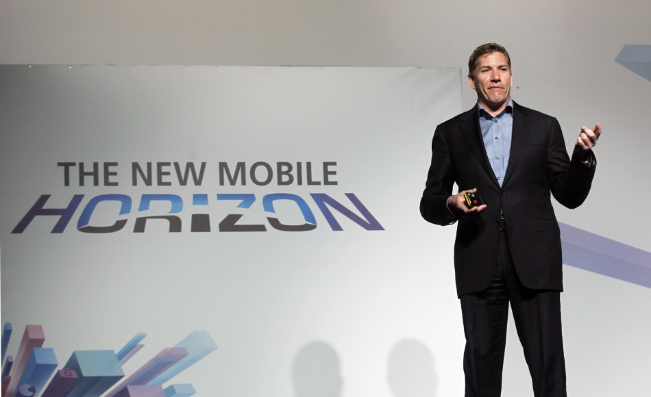 Mozilla's CEO Gary Kovacs gestures during a news conference at the Mobile World Congress in Barcelona,