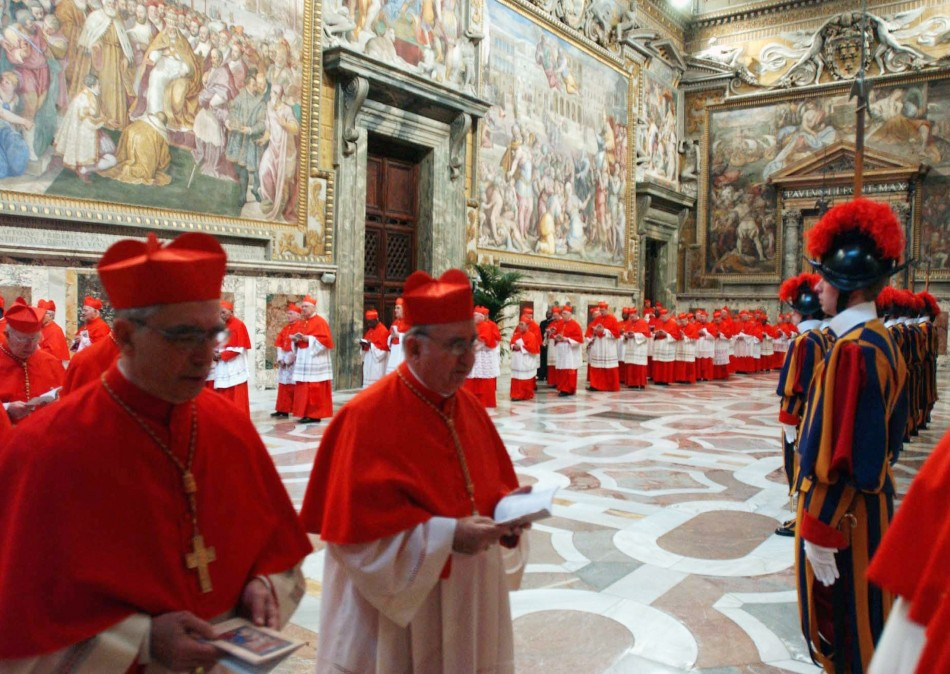 Cardinals in the Sistine Chapel