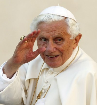 Farewell Pope Benedict waves as he becomes hidden from the world