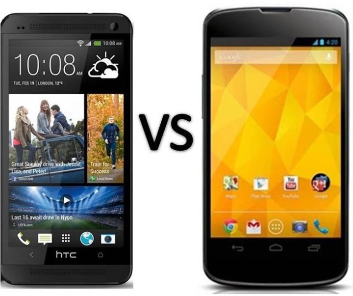 HTC One vs Nexus 4