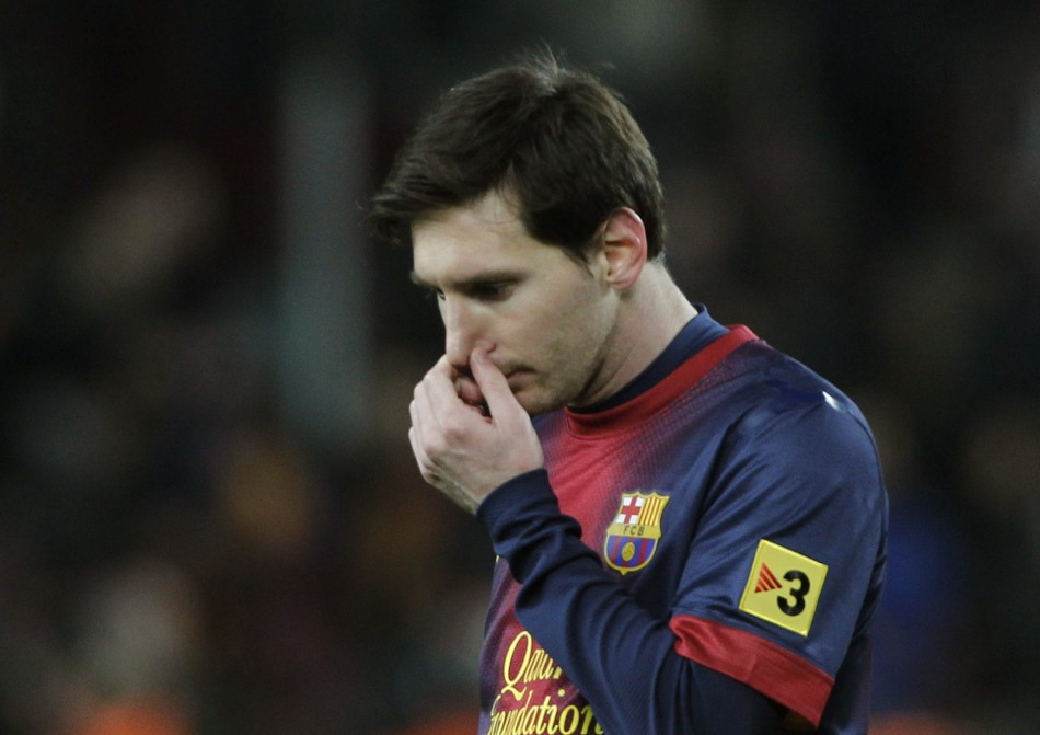 Lionel Messi disappointed against AC Milan and Real Madrid