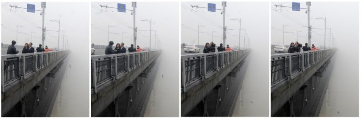 China: Suicide lovers\' leap from Yangtze River Bridge captured on