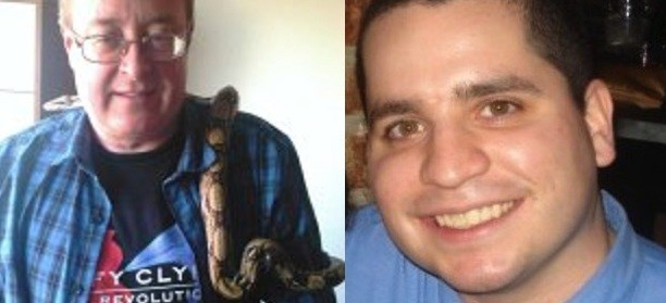 Dale Bolinger (L) has been arrested follwoing investigations involving Us 'cannibal cop' Gilberto Vale (Facebook)
