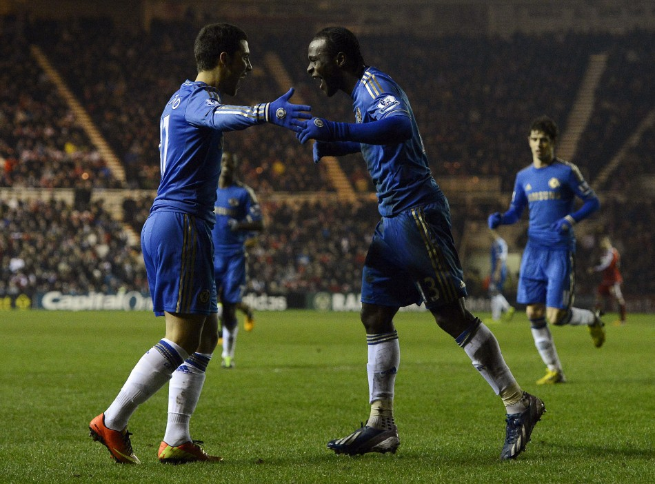 Chelsea beat Middlesbrough 2-0 on Wednesday