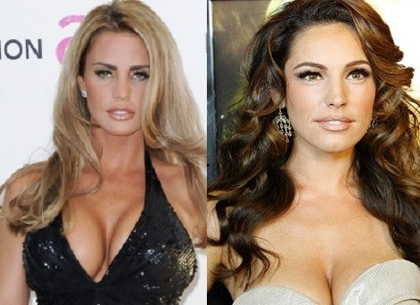 Katie Price and Kelly Brook