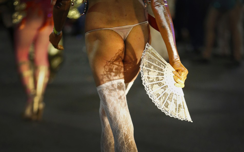 A participant marches in the 35th annual Sydney Gay and Lesbian Mardi Gras parade March 2, 2013