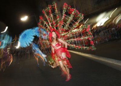 A member of the group Darlenes Transsexual Angels participates in the 35th annual Sydney Gay and Lesbian Mardi Gras parade March 2, 2013.