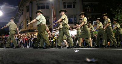 Members of the group Australian Defence Force - Serving with Pride participate in the 35th annual Sydney Gay and Lesbian Mardi Gras parade March 2, 2013.