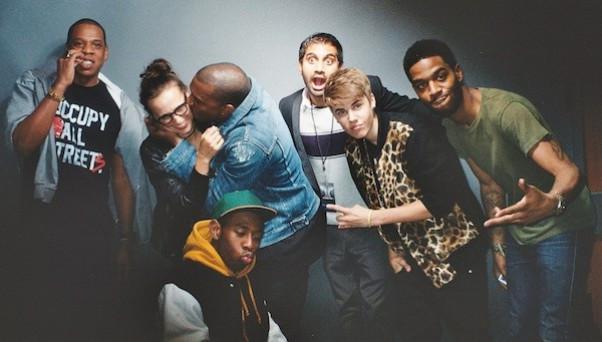 Justin Bieber wearing Ronnie Fieg's Kith leopard varsity jacket  (Photo: www.upscalehype.com)