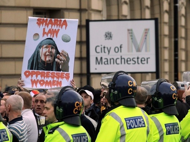 EDL rally in Manchester