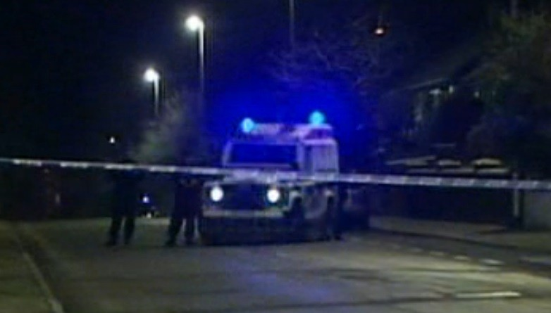 Police sealed off the area following the discovery of the mortar bombs (U.TV)