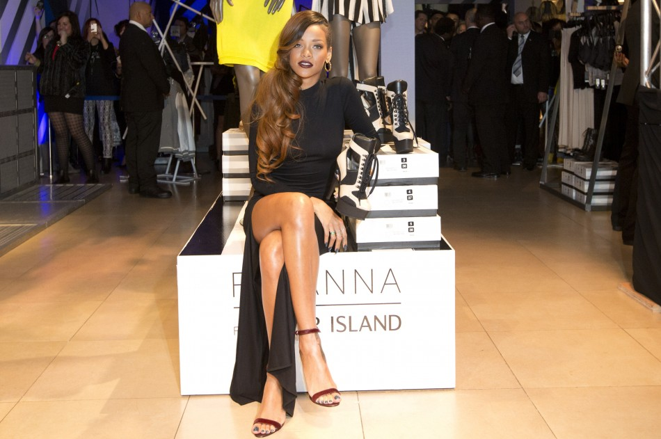 Rihanna at the launch of her collection for River Island