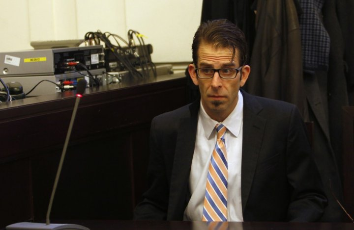 Lamb of God frontman Randy Blythe attends his trial at the Municipal Court in Prague