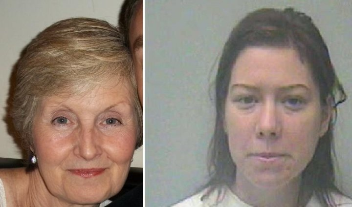 Victim Sally Hodkin (l) and killer Nicola Edgington