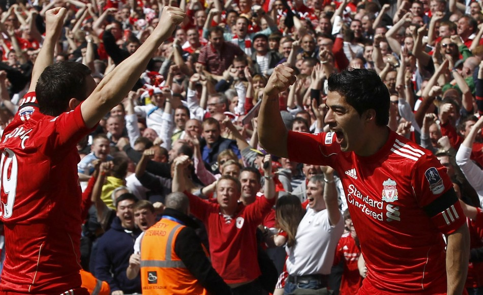Stewart Downing and Luis Suarez