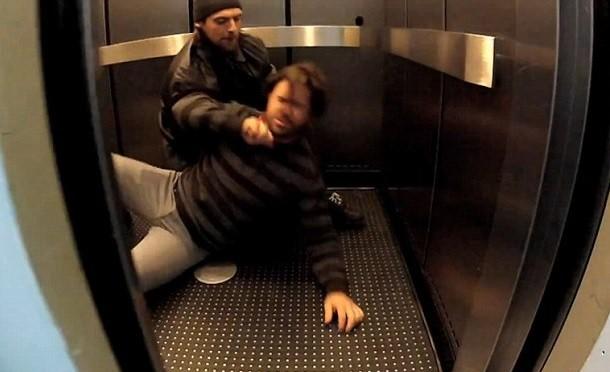 Elevator murder prank