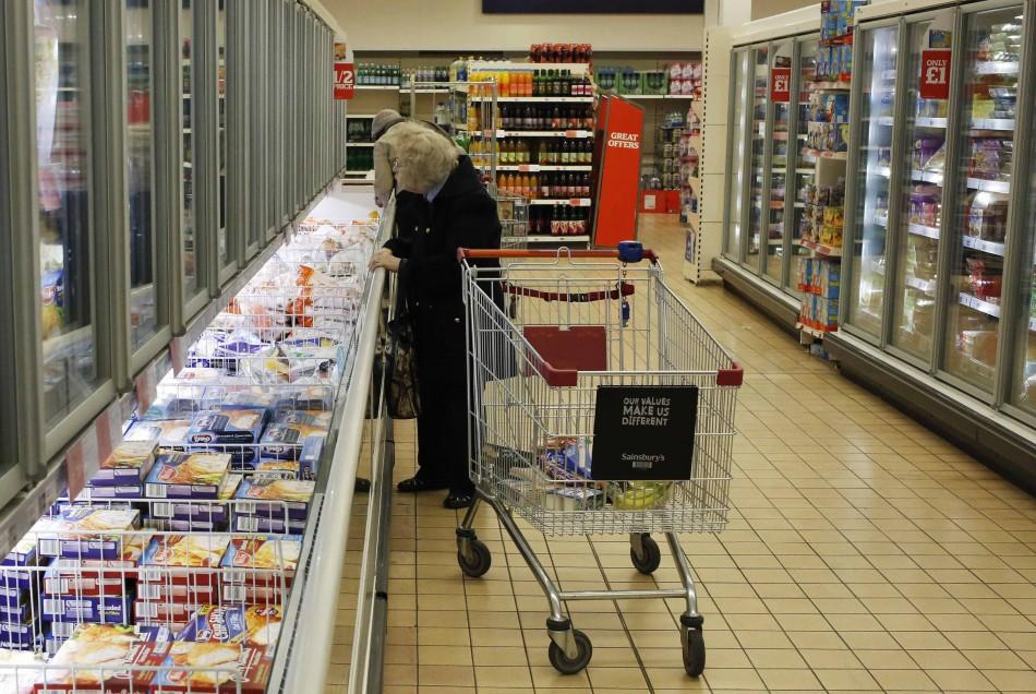 A supermarket in London