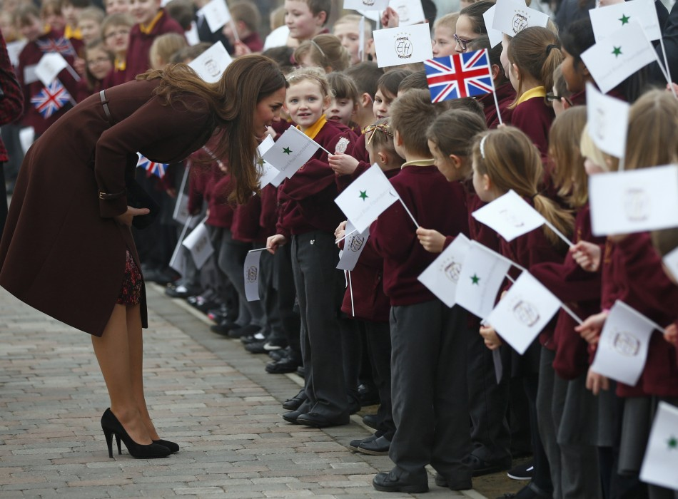 Kate Middleton, Duchess of Cambridge, at Grimsby