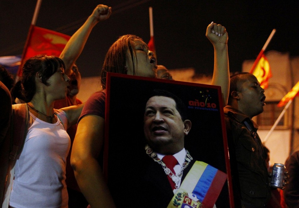 Supporters of Chavez