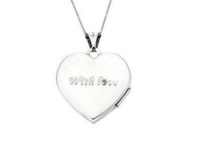 With Love personalised locket
