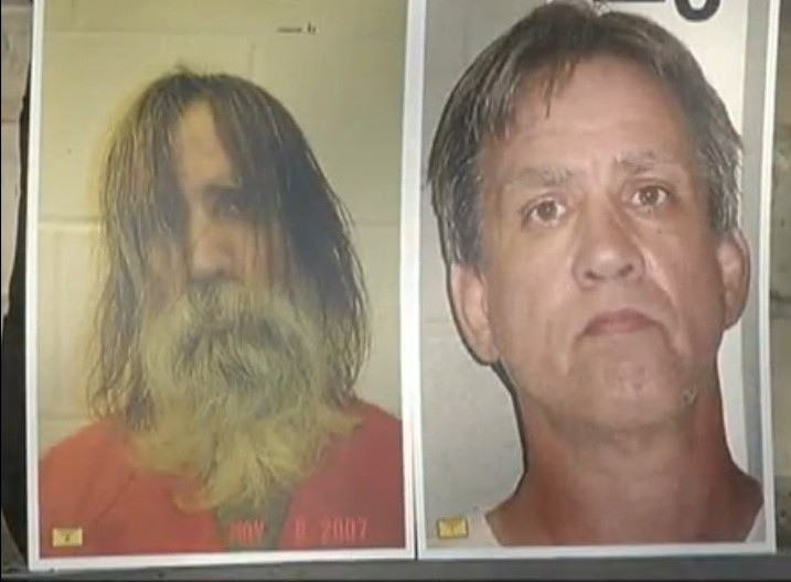 Photos taken of Steven Slevin on the day of his arrest and upon his release (KOB.com)