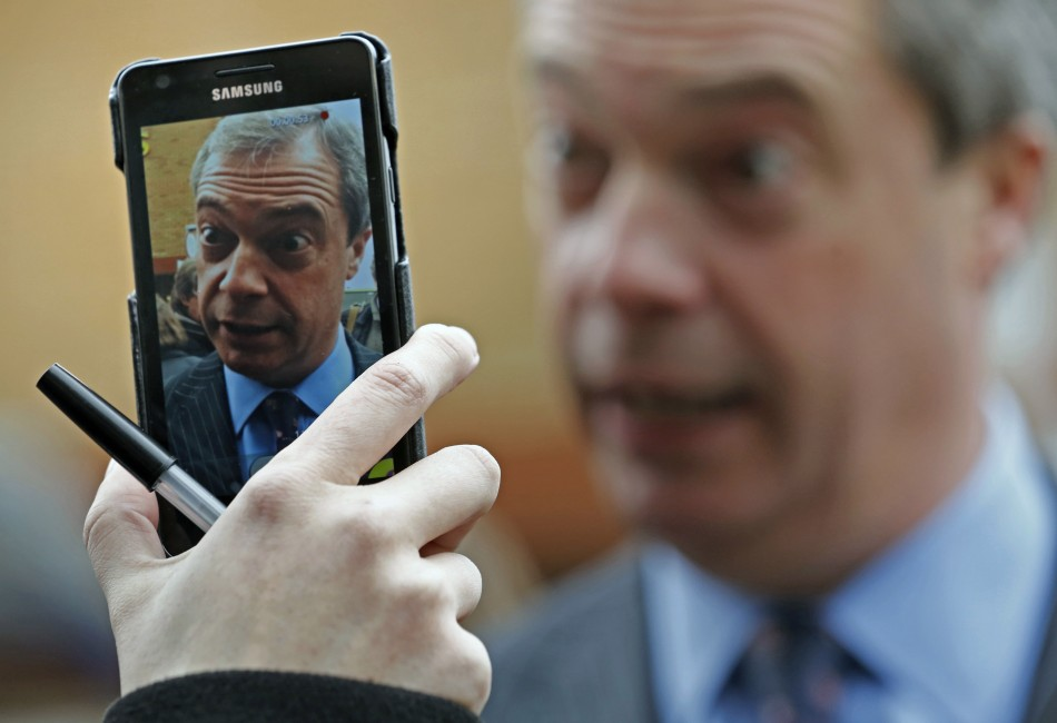 Farage: Dined with media baron Murdoch