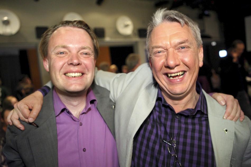 Rick Falkvinge and Christian Engstrom