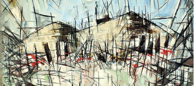Abstract canvas by Arthur Inajian