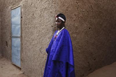 Fatoumata Toure in Traditional Songhai Headdress Source - ReutersJoe Penney